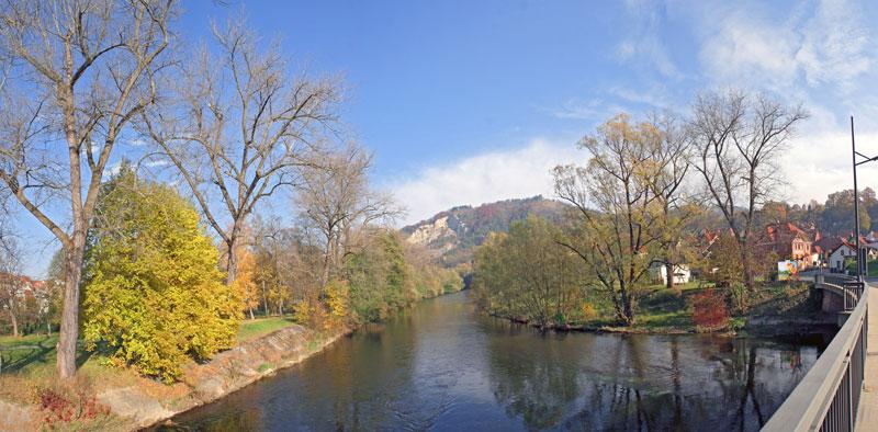 Saale Herbst Panorama